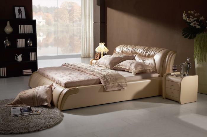 lit en cuir pour bien meubler