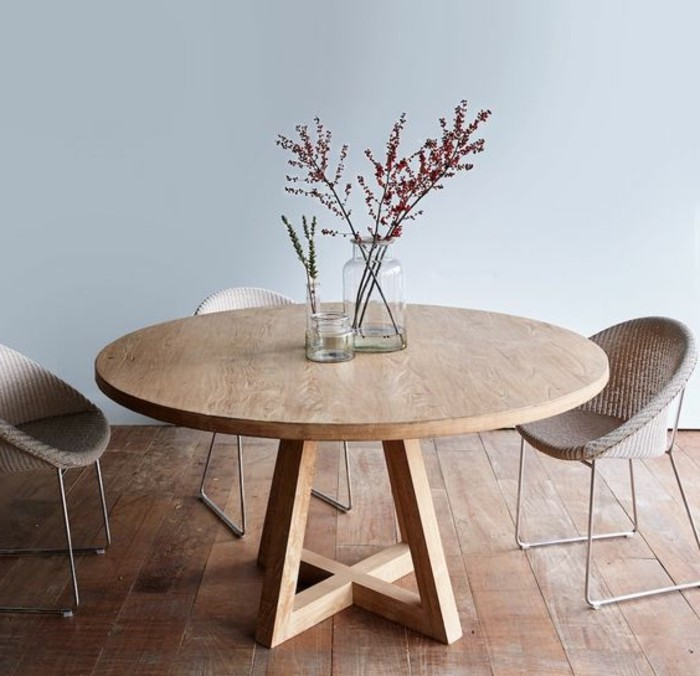 originale table de cuisine ronde