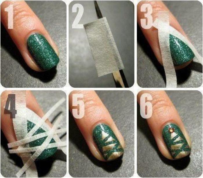 Nail Art Facile Noel
