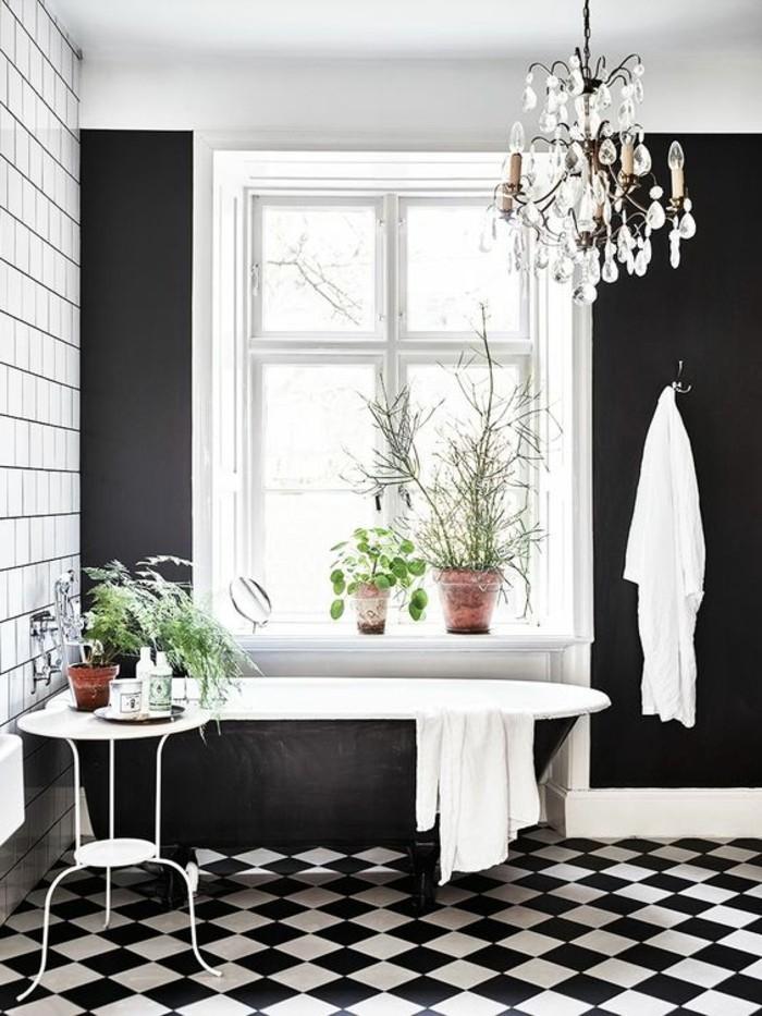 le carrelage damier noir et blanc en 78