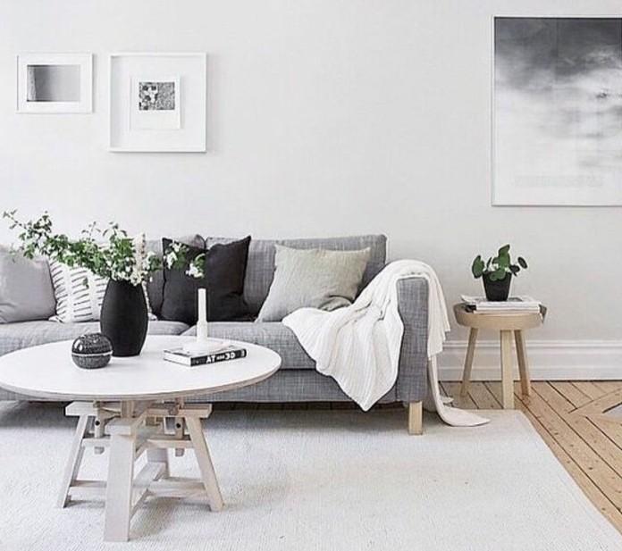 un salon en gris et blanc c est chic