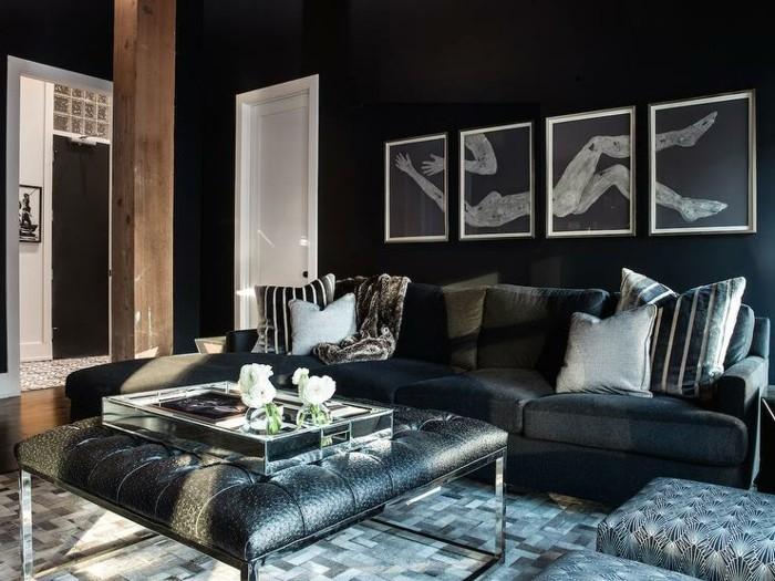 le salon gris et noir comment le