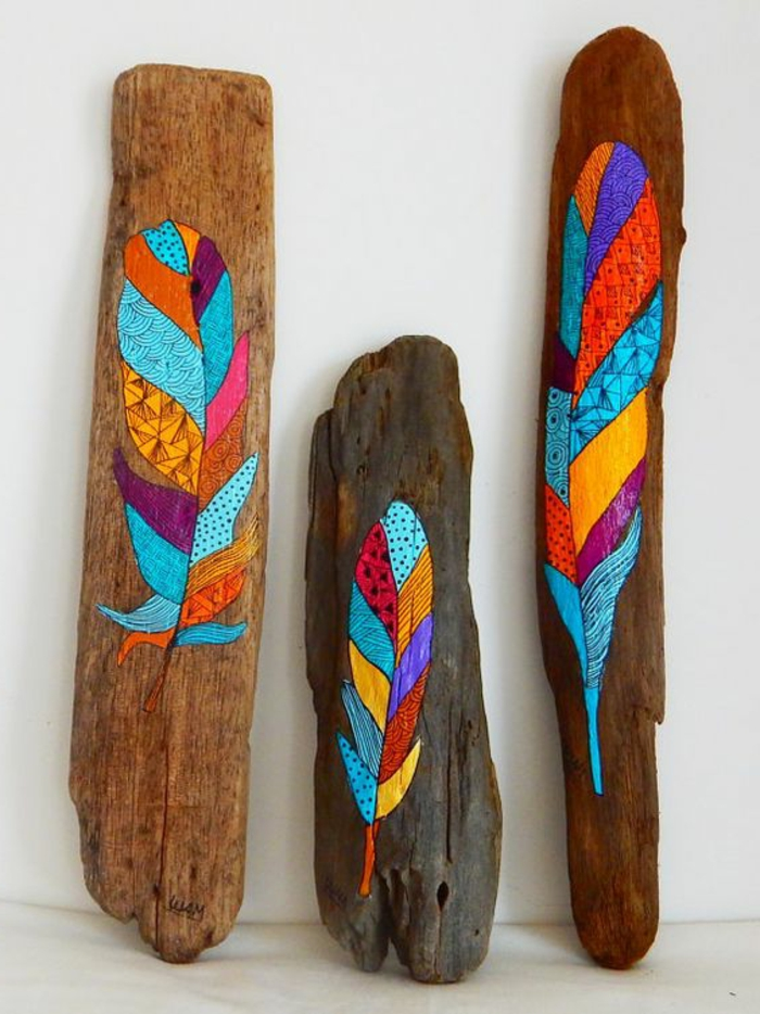 1001 pieces de bois flotte peint