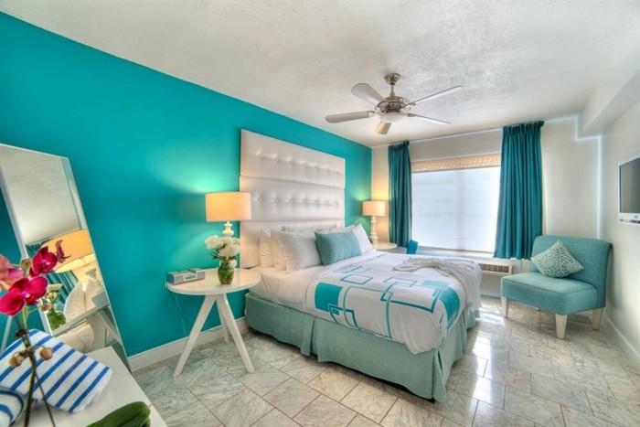 Fabulous Chambre Turquoise Ventilateur De Plafond Orchide