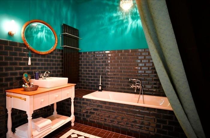 Salle De Bain Chocolat Turquoise Bright Shadow Online