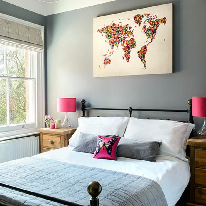 Peinture Chambre Gris Et Rose Metamax Top