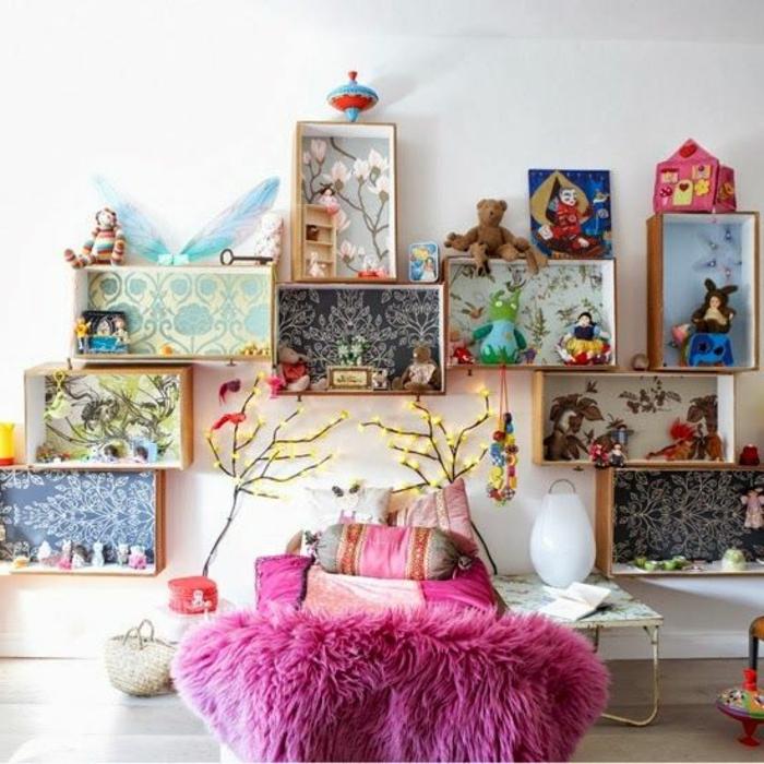 Stunning Idee Deco Chambre Enfant Fille Cagette Bois Fond