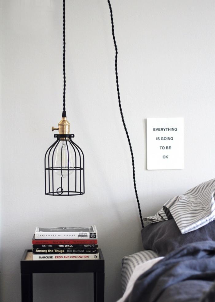 1001 Ides Pour Une Lampe De Chevet Suspendue Dans La