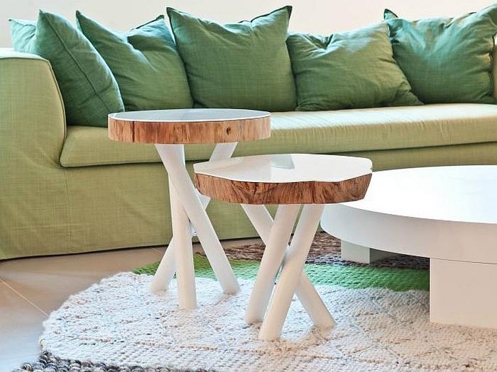 table en rondin de bois