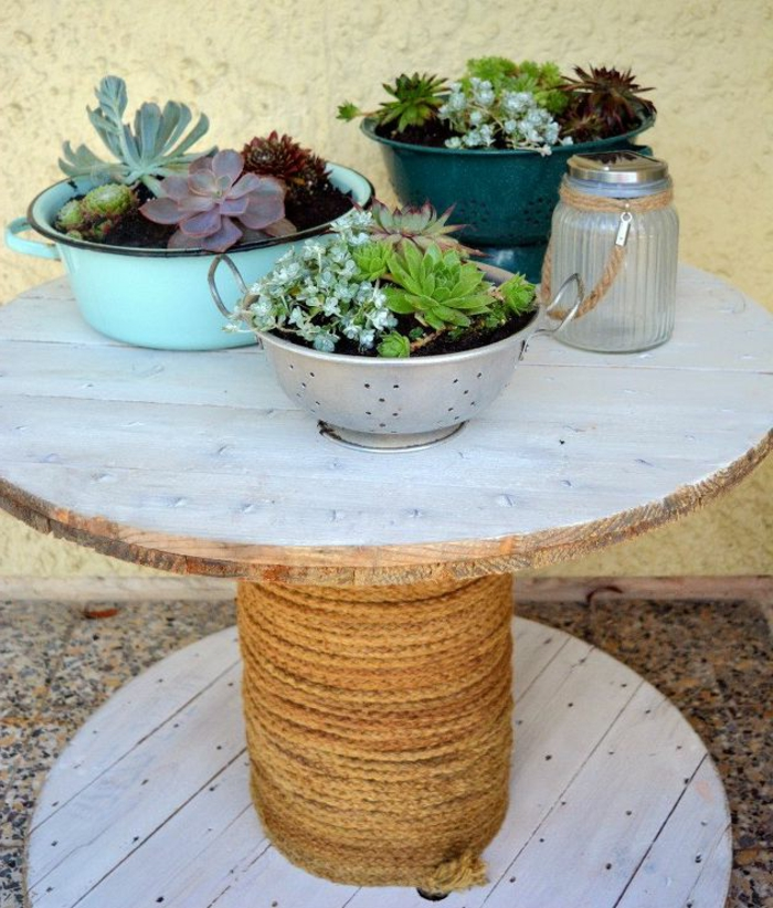 Deco Touret Bois Fabulous Table Basse Touret Cerclage