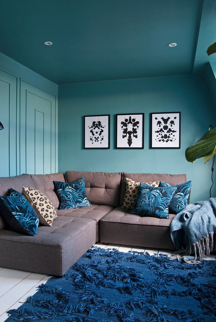 Share With Chambre Bleu Turquoise Et Taupe