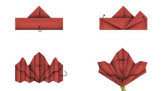 origami serviette de table facile tutorial origami handmade. Black Bedroom Furniture Sets. Home Design Ideas