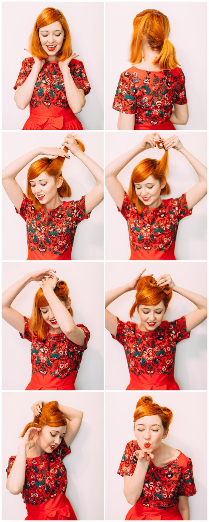 coiffure pin up chic