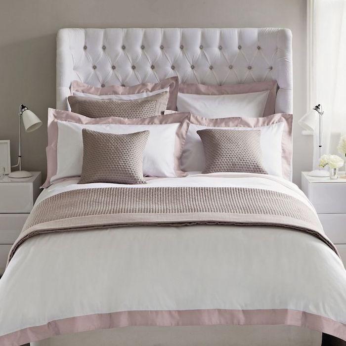 chambre grise et taupe. Black Bedroom Furniture Sets. Home Design Ideas