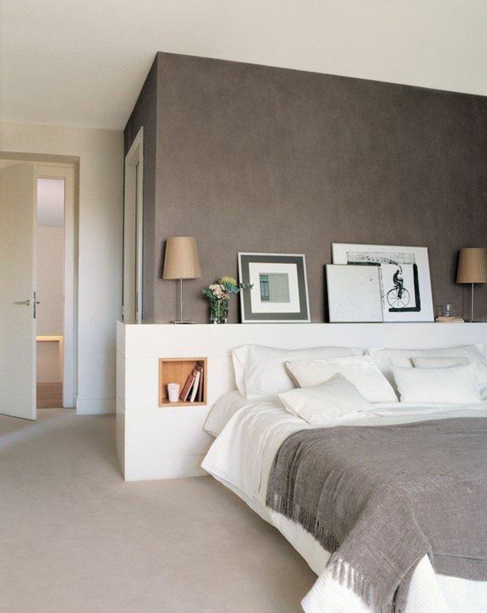 Mur Taupe Et Blanc Moble Top