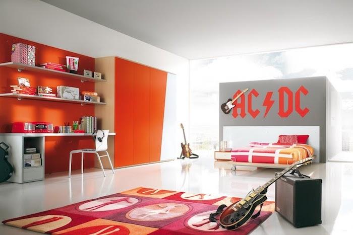 playmobil lit orange couverture blanche