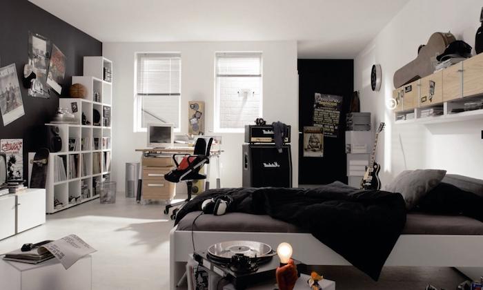 Deco Chambre Lit Noir Free Lit Mezzanine Noir Adulte