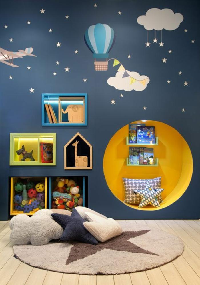 Chambre Enfant Jaune Et Bleu - Moston.top