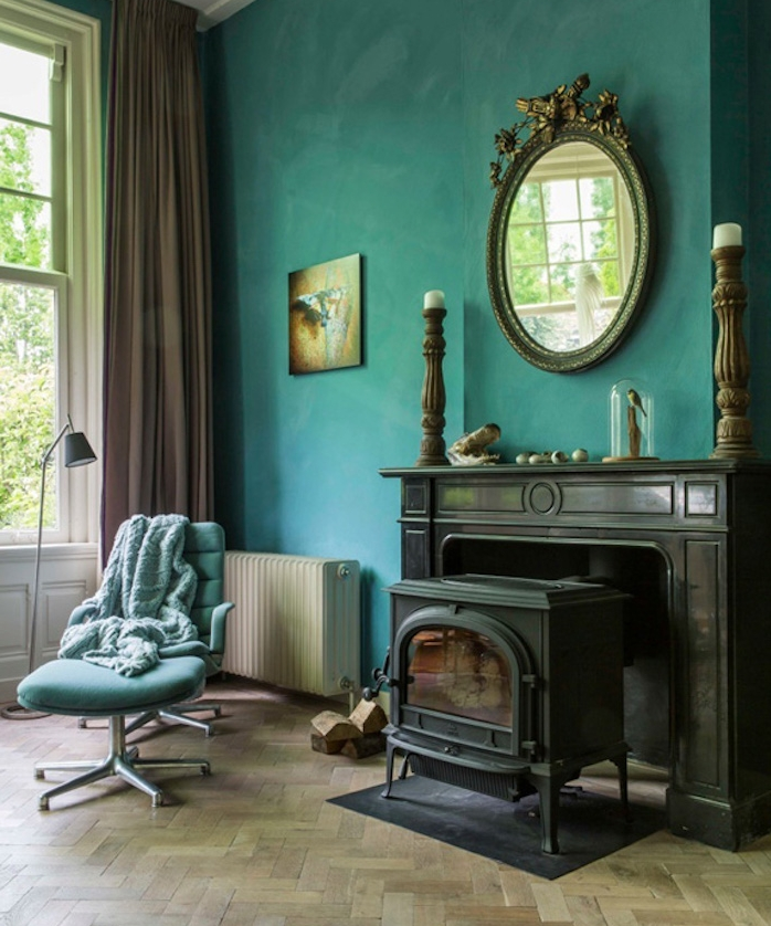 Stunning Deco Salon Bleu Vintage Gallery Design Trends