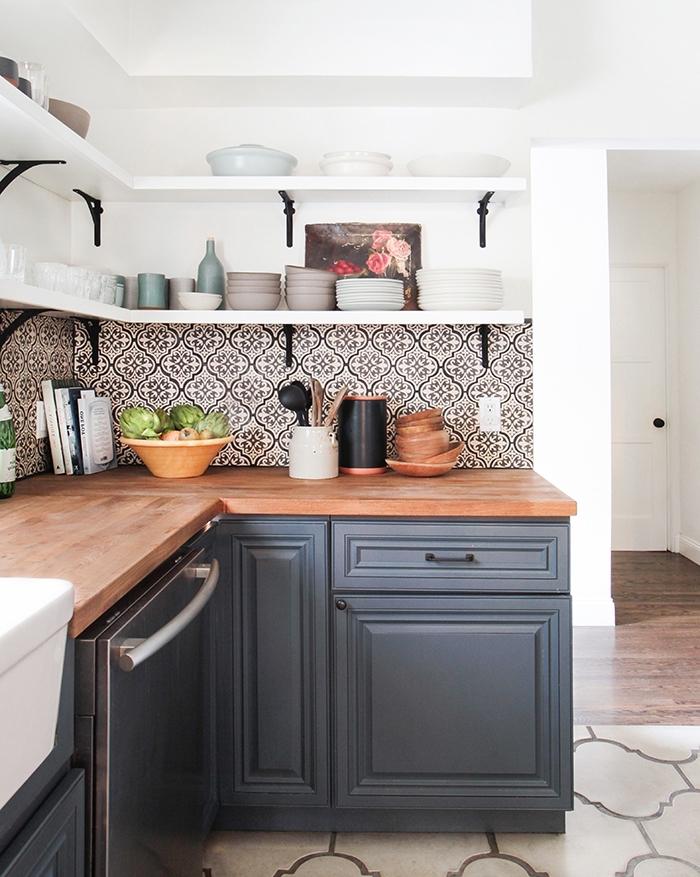 modeles de cuisine avec carreaux de ciment