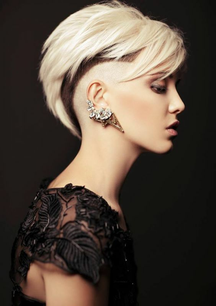 Punk Pixie Haircut Undercut