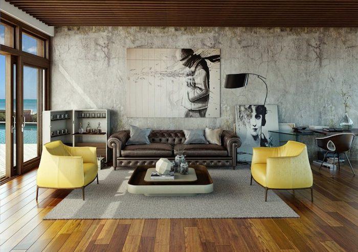 Deco Murale Salon Industriel