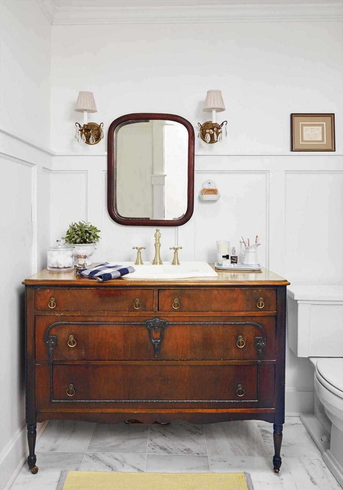 meuble salle de bain recup 70 idees pour une deco qui respire l authenticite