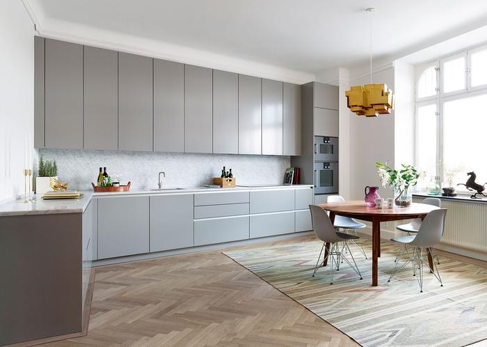 1001 idees deco tendance pour l amenagement d une cuisine gris clair