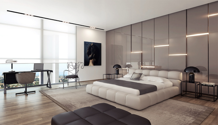 belle chambre a coucher adulte moderne