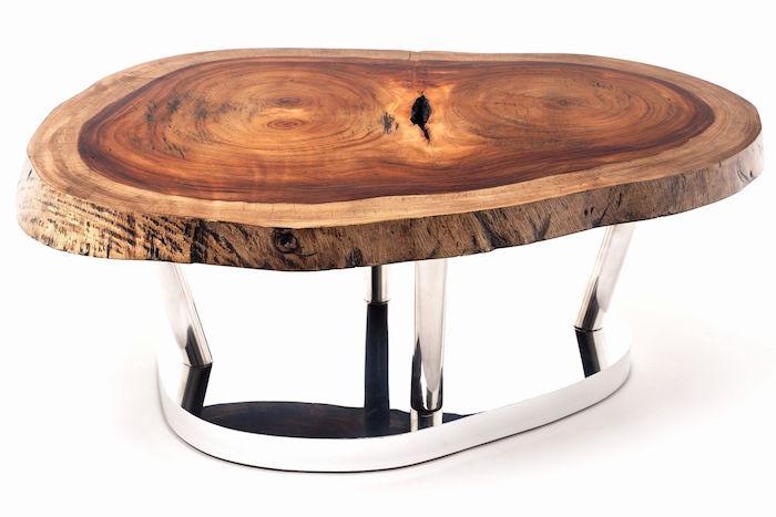 table basse en tronc d arbre