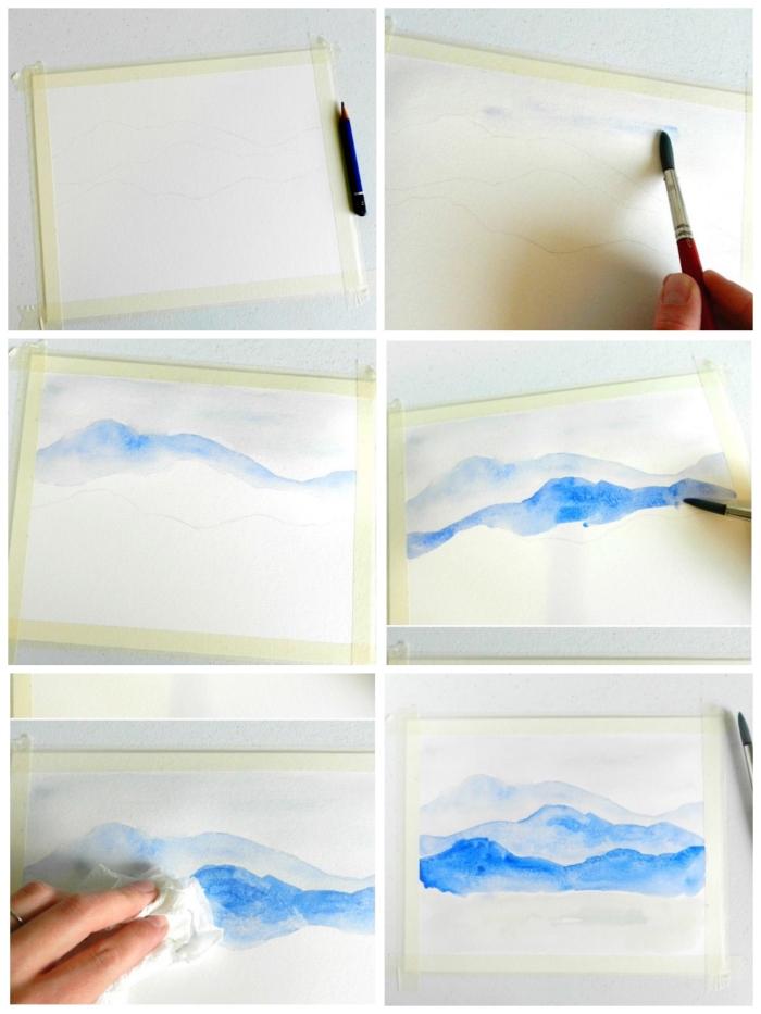peinture a l aquarelle facile