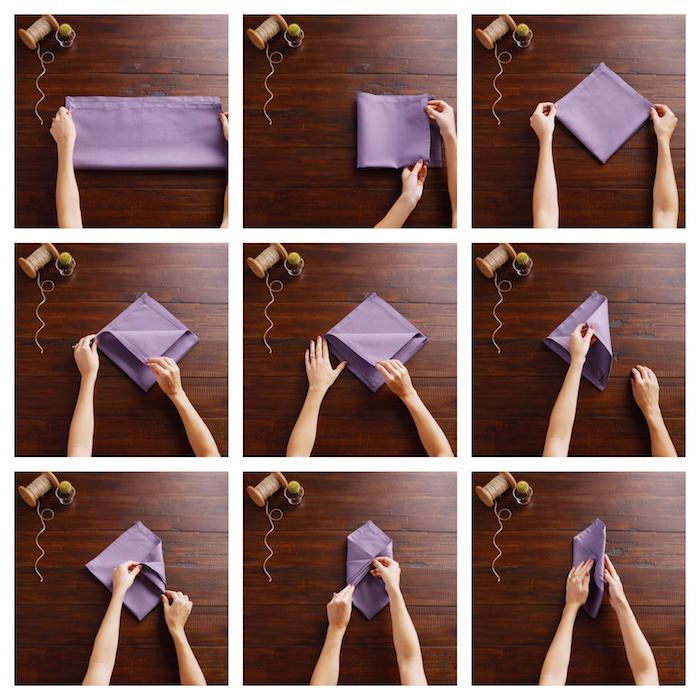 pliage de serviette pour mariage