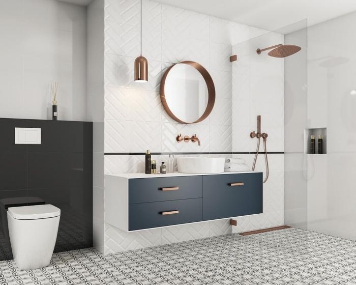 Gris Blanc Moderne Deco Salle De Bain | Knittyschmitty