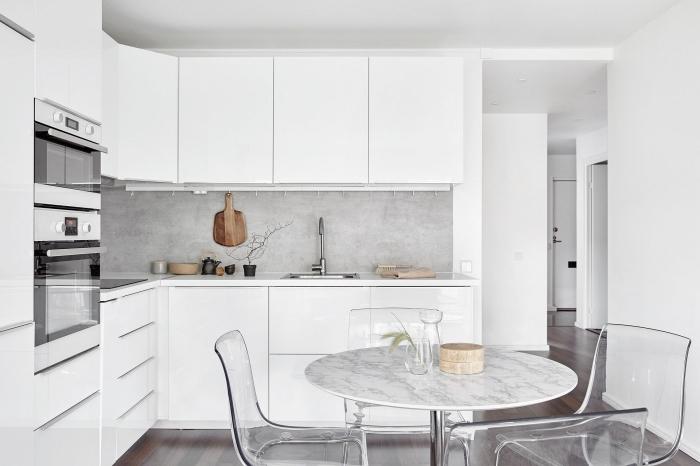 94 design de cuisine blanche et grise
