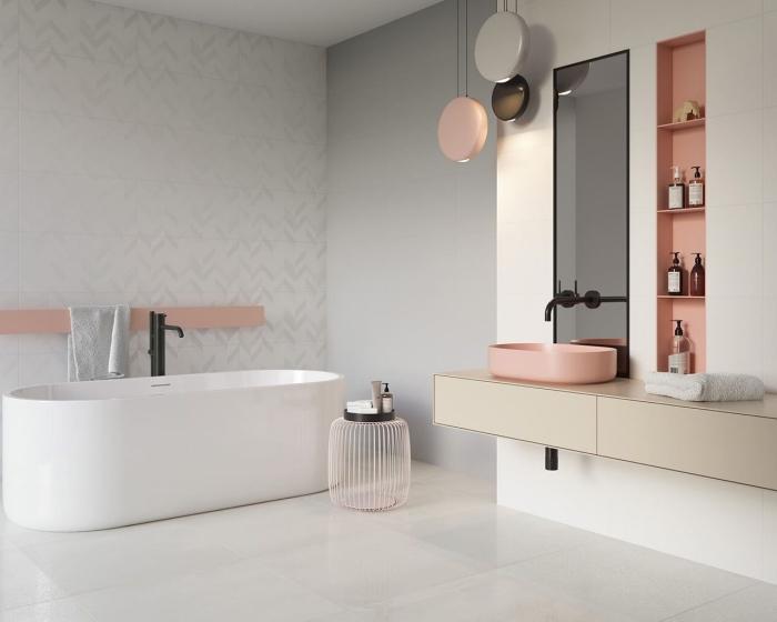 89 Design De Salle De Bain En Gris Et Blanc Tendances Pour 2019