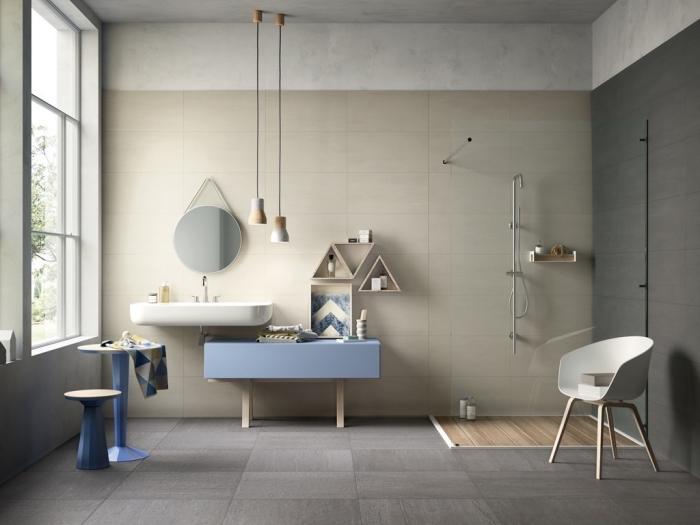 mural pour salle de bain moderne