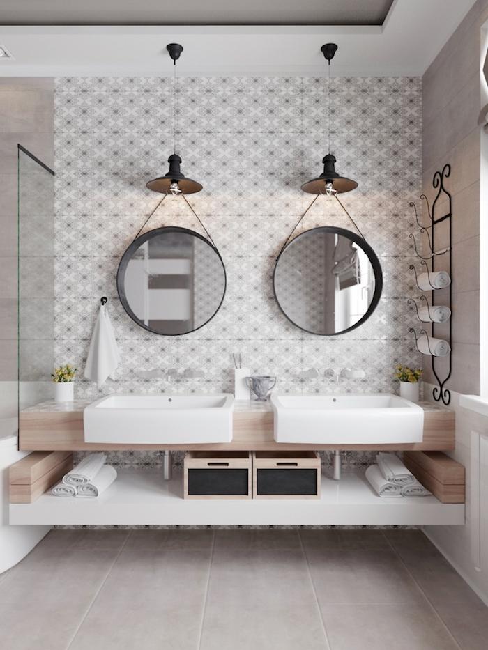 idees pour la salle de bain en bois et