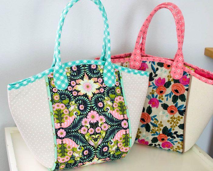 modeles de sacs en tissu a faire soi