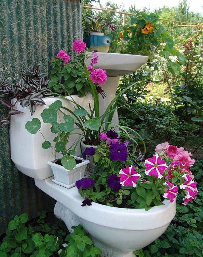 1001 idees de deco de jardin recup
