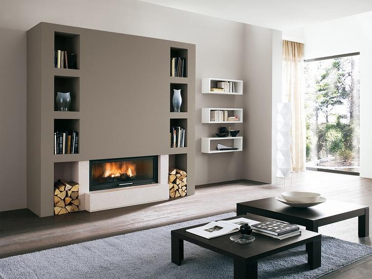 Acquista l'articolo mobili da soggiorno con camino elettrico a 5 livelli di fiamme, finitura bianco mate e nero laccato, misure: Camino Elettrico Soggiorno 2021 Fundomega1 Com