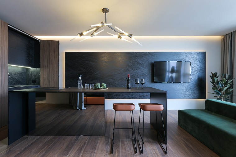 Cerchi idee per arredare un ambiente unico con cucina e soggiorno? Open Space Cucina E Salotto Con Design Moderno 2 In 1 Archzine It