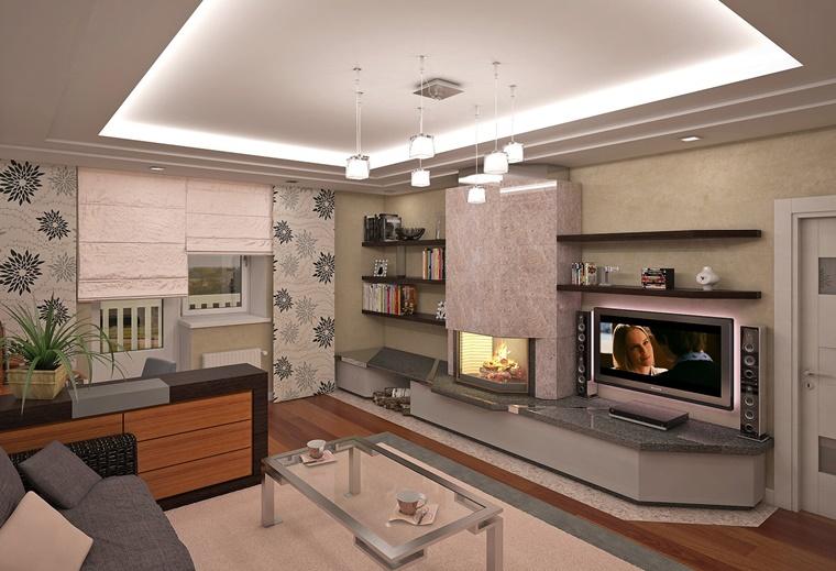 Living moderno con camino e tv. Soggiorno Con Camino 24 Idee Suggestive Di Calore E Comfort Archzine It