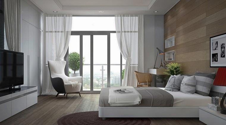 Per le camere da letto moderne è molto bella la soluzione con tenda a rullo, che vanta linee pulite ed essenziali,. Tende Camera Da Letto Proposte Di Tendenza Per Arredare Con Stile Archzine It