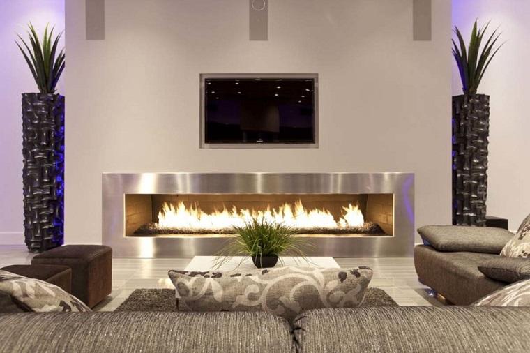 Arredamento soggiorno moderno con il camino. Arredare Salotto In Stile Moderno Con Idee E Suggerimenti Di Design Archzine It