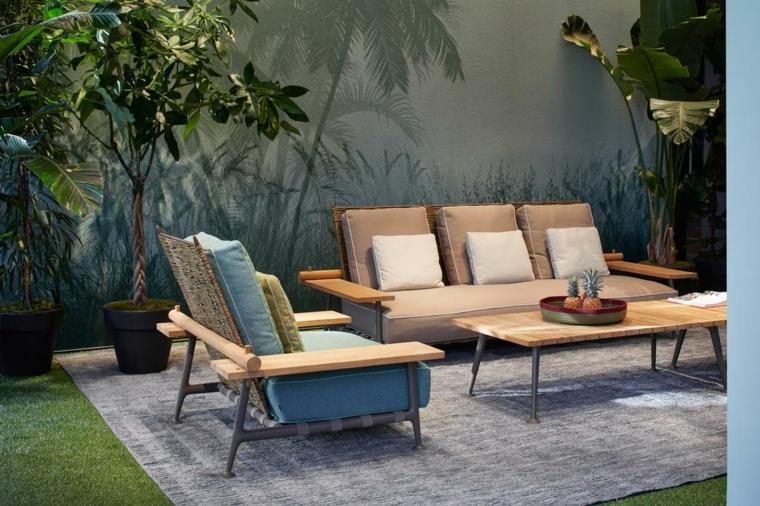 Mobili in rattan sintetico, polywood e textilene. Idee Per Giardini Moderni Con Mobili E Decorazioni Archzine It