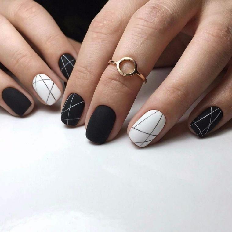 1001 Idee Per Unghie Gel Nere Idee Manicure Da Copiare