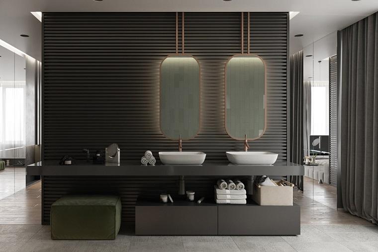 In ambientazioni moderne viene utilizzato anche il bianco, il grigio antracite ed il verde bosco. 1001 Idee Per Case Moderne Interni Idee Di Design