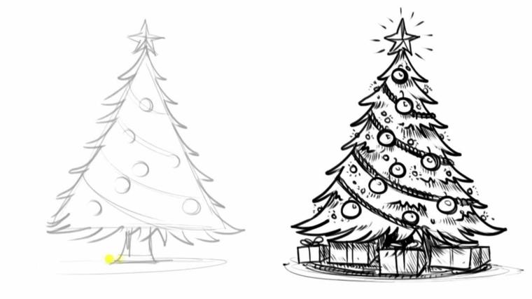 ← disegno di babbo natale da colorare · sagome per realizzare una ghirlanda. 1001 Idee Per Albero Di Natale Da Colorare Per Bambini