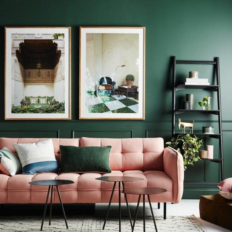 Palette colori per pareti nere. 1001 Idee Per Verde Salvia E Abbinamento Colori