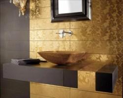 Einrichten mit Farben Goldene Wandfarbe und Möbel für ...